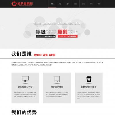 织梦大气黑色网络公司企业网站模板