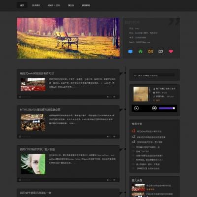 dedecms黑色博客文章新闻资讯类织梦模板