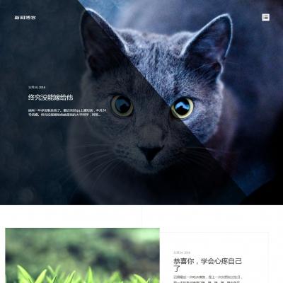 HTML5响应式清新文艺个人博客文章类织梦模板(自