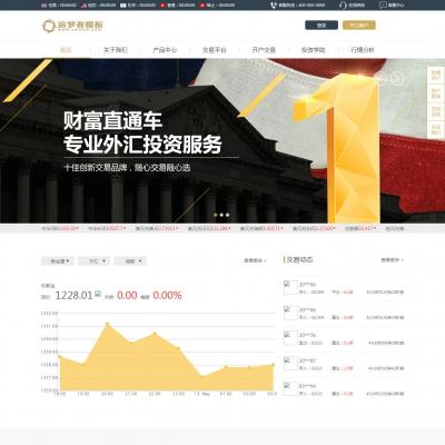 货币金融行业通用网站织梦模板
