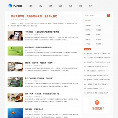 HTML5响应式个人博客文章类织梦模板(自适应)