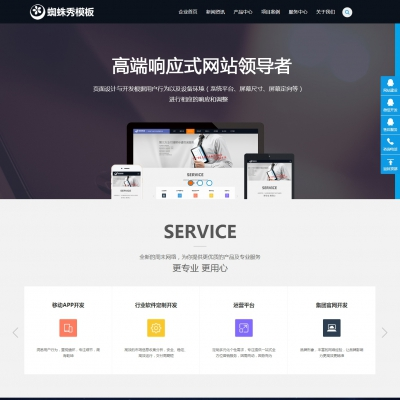 dedecms网络设计公司软件公司类织梦模板