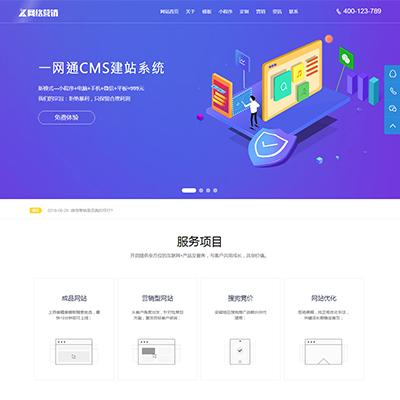 高端小程序网站设计网络营销类模版中心网站织梦模板(带筛选)