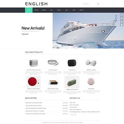 外贸英文企业网站织梦模板(自适应)
