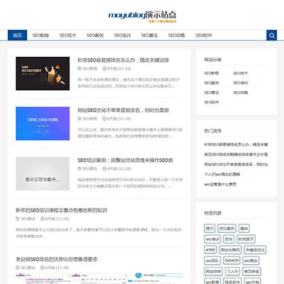 响应式SEO教程资讯类网站织梦模板(自适应)