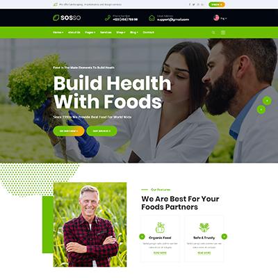 绿色有机食品农业网站静态html模板