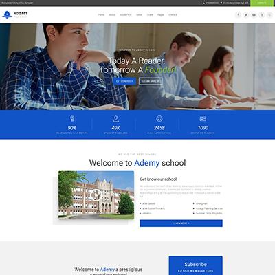 大学学校教育官网响应式HTML模板