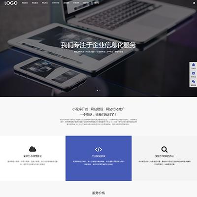 响应式网站建设网络科技类网站织梦模板(自适应)