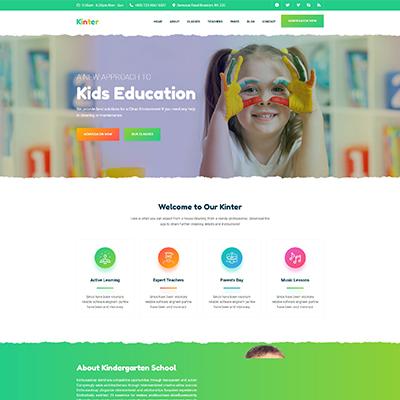 儿童教育幼儿园学校官网HTML5静态模板