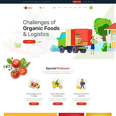 html有机蔬菜水果批发商网站静态模板