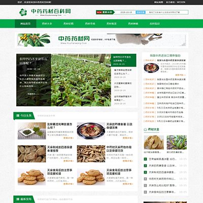 响应式绿色博客新闻资讯织梦模板(自适应)