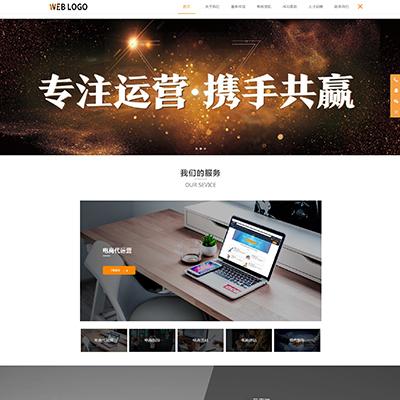 跨境电商代运营店铺托管类网站织梦模板(自适应)