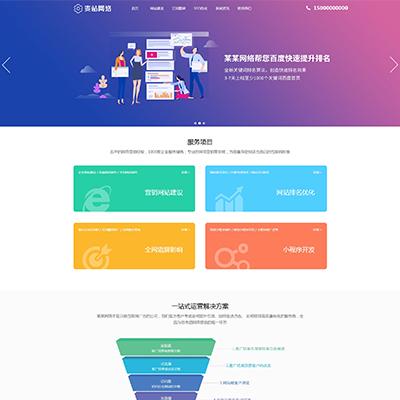 网站建设SEO万词霸屏网络公司织梦模板(自适应)